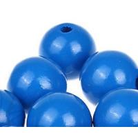 Bolita de madera antibaba 18 mm - Color Azul medio 20