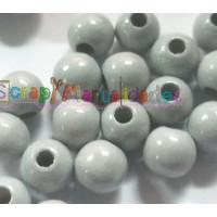 Bolita de madera antibaba 18 mm - Color Gris claro 036