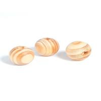 Bola madera de pino veteada- Tamaño 20 mm- Taladro 4 mm