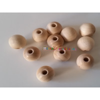 Bolsa 100 bolas madera arce sin lacar- Tamaño 8 mm- Tal 2 mm -