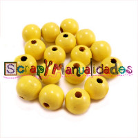 Bolita de madera antibaba 8 mm Color Amarillo