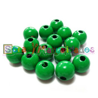 Bolita de madera antibaba 8 mm Color Verde