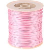 Bobina de cordon de saten 1 mm, color rosa claro ( 50 metros)