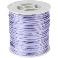 Bobina de cordon de saten 1 mm, color lila ( 50 metros)