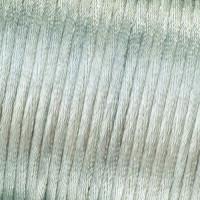 Bobina de cordon de saten 1 mm, color plata ( 50 metros)