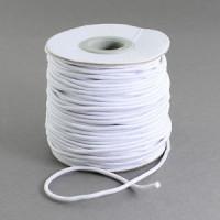 Bobina 40 metros cordon elástico color blanco 2 mm