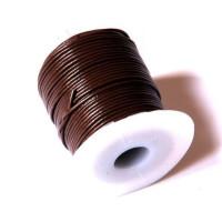 Bobina cuero marron oscuro 1 mm ( 25 metros)
