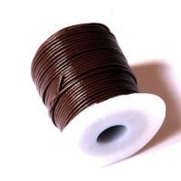 Bobina cuero color marron oscuro 2 mm ( 25 metros)