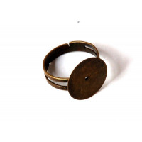 Base anillo bronce con base plana 15 mm