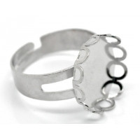 Base anillo 18.3 mm color niquel con base ribete circular 16 mm