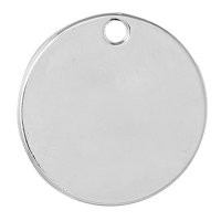 Base de estampacion chapita plateada silver 24 mm -