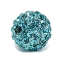 Bola cristales rhinestone 8 mm, color azul ( 1 ud)