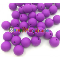 Bola de silicona 9 mm- Color Morado 07