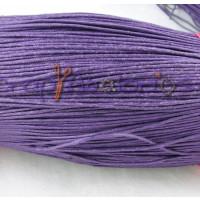 Cordon algodon encerado 1 mm violeta (1 metro)