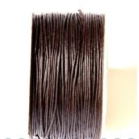Cordon algodon encerado 1 mm marron oscuro (1 metro)