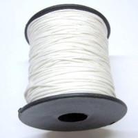 Cordon algodon encerado 1 mm blanco (1 metro)
