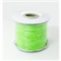 Cordon algodon encerado sedoso  1 mm verde fluor (1 metro)