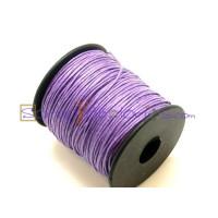 Cordon algodon 1 mm  lila (1 metro)