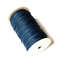 Cordon algodon 2 mm color azul marino ( 1 metro)