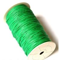 Cordon algodon 2 mm color verde ( 1 metro)