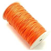 Cordon algodon 2 mm color naranja ( 1 metro)