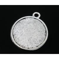 Camafeo plata doble redondo 28x25mm ( 22 mm interior)