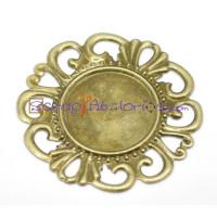 Camafeo bronce redondo labrado 35mm laton  ( 18  mm int)