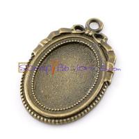 Camafeo macizo bronce labrado 41x27 mm (25x18mm int)