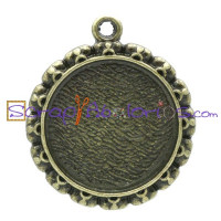Camafeo bronce redondo 30x26 mm ( int 20 mm)