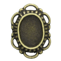 Camafeo bronce  ribete 24x17 mm, int 14x10 mm