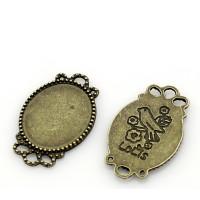Camafeo bronce pajarito 27x17 mm, int 15x18 mm
