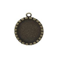 Camafeo bronce oval 34x23 mm ( int 25x18 mm)