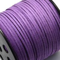 Cordón de antelina 2.5 mm violeta  (1 metro)