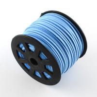 Cordón de antelina 2.5 mm azul cielo (1 metro)