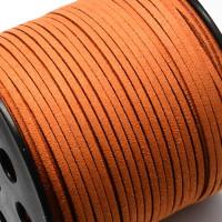Cordón de antelina 2.5 mm Calabaza  (1 metro)