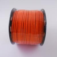 Cordón de antelina 2.5 mm naranja (1 metro)