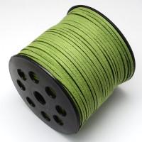 Cordón de antelina 2.5 mm verde (1 metro)