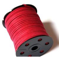 Cordón de antelina 3 mm granate magenta (1 metro)