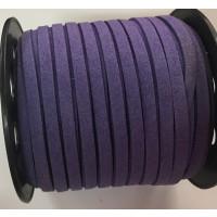 Cordón de antelina 5 mm morado (1 metro)