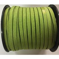Cordón de antelina 5 mm verde pistacho (1 metro)