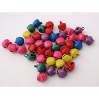 Cascabel aluminio de colores 6 mm ( 50 uds) Colores vivos