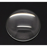 Cabujon cristal transparente redondo 18 mm