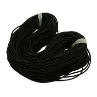 Cordón caucho 1.5 mm negro ( 1 metro)