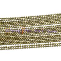 Cadena bolas bolitas 2.4  mm color bronce - 1 metro
