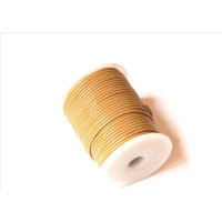 Cordon cuero color marron claro 2 mm ( 1 metro)