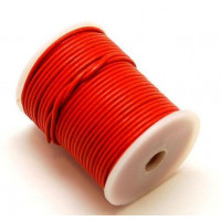 Cordón cuero color naranja butano 2 mm ( 1 metro)