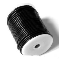 Cordón cuero negro 3 mm ( 1 metro)