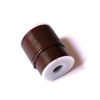 Cordón cuero marron oscuro 3 mm ( 1 metro)