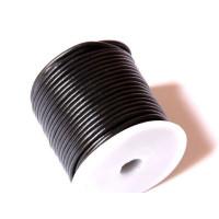 Cordón cuero negro 4 mm ( 1 metro)
