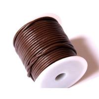 Cordón cuero marrón 4 mm ( 1 metro)